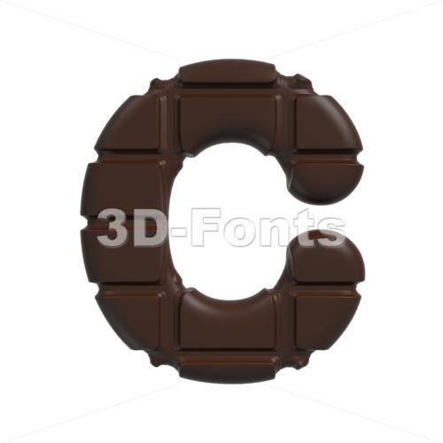 3d cacao font C – Capital 3d letter