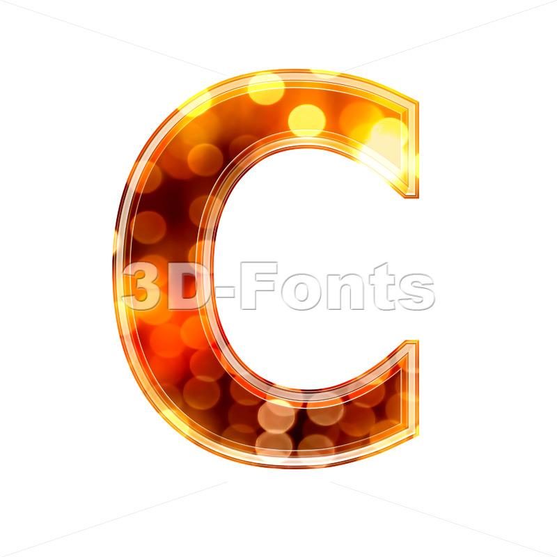 3d defocus lights font C – Capital 3d letter