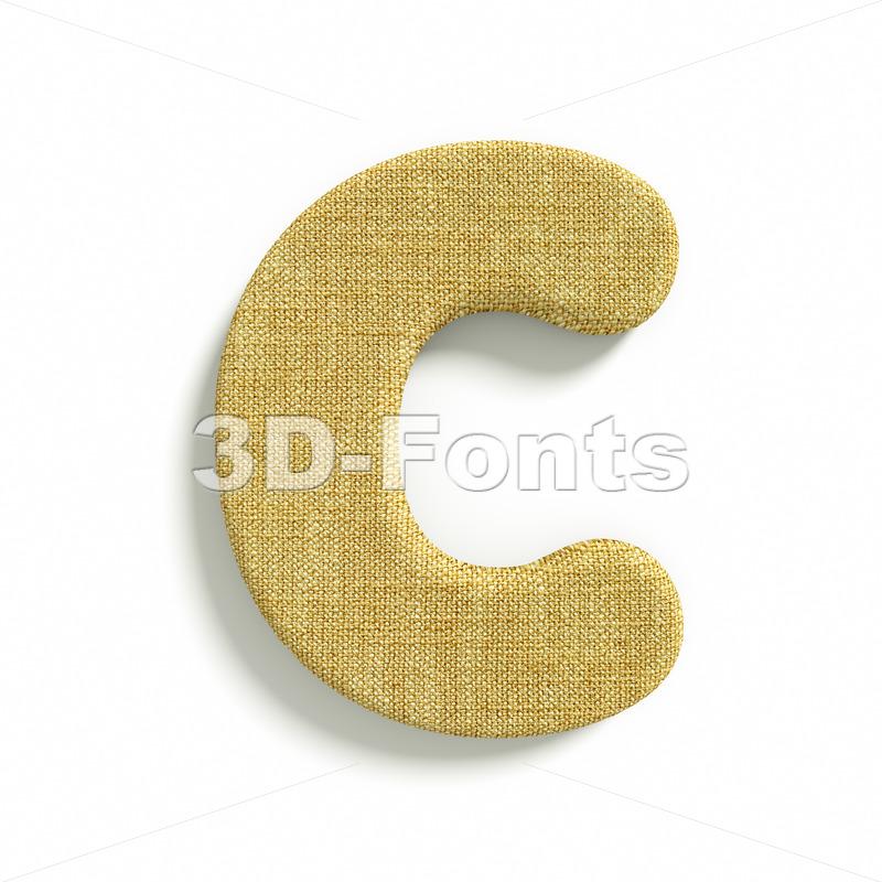 3d jute font C – Capital 3d letter