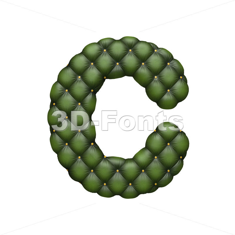 3d sofa font C – Capital 3d letter