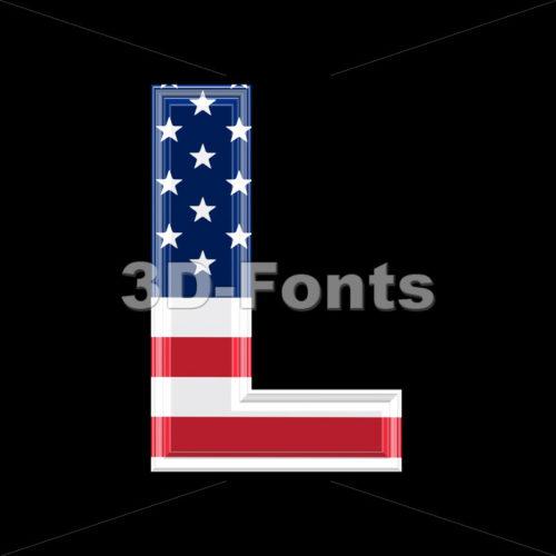 American 3d font L – Capital 3d character