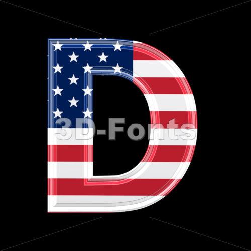 American font D – Capital 3d character