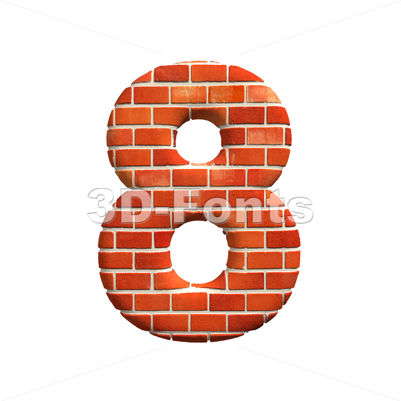 Brick digit 8 – 3d number