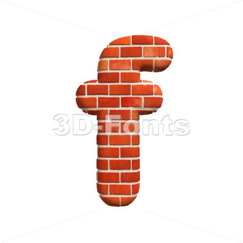 Brick letter F – Small 3d font
