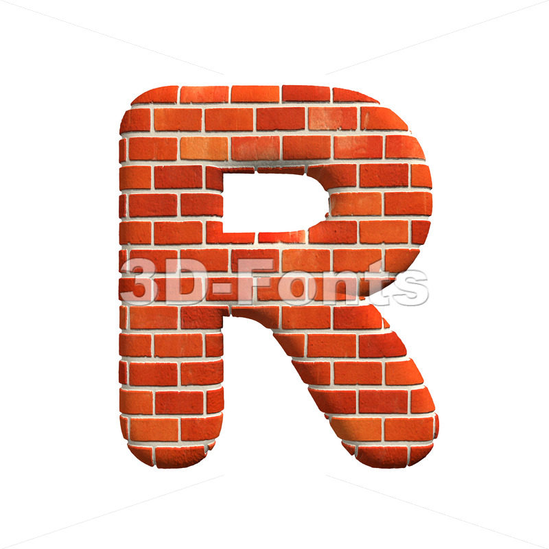 Brick letter R – Uppercase 3d font