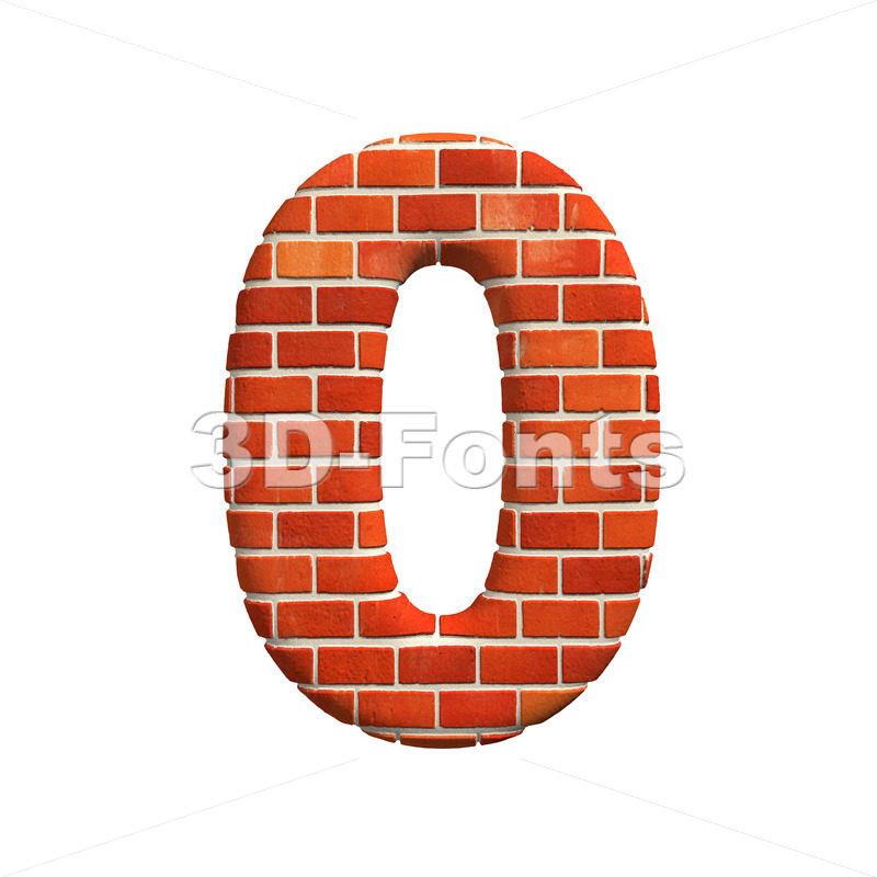 Brick number 0 – 3d digit