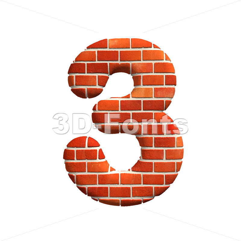 Brick number 3 – 3d digit