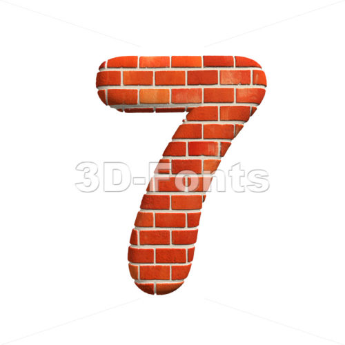 Brick number 7 – 3d digit