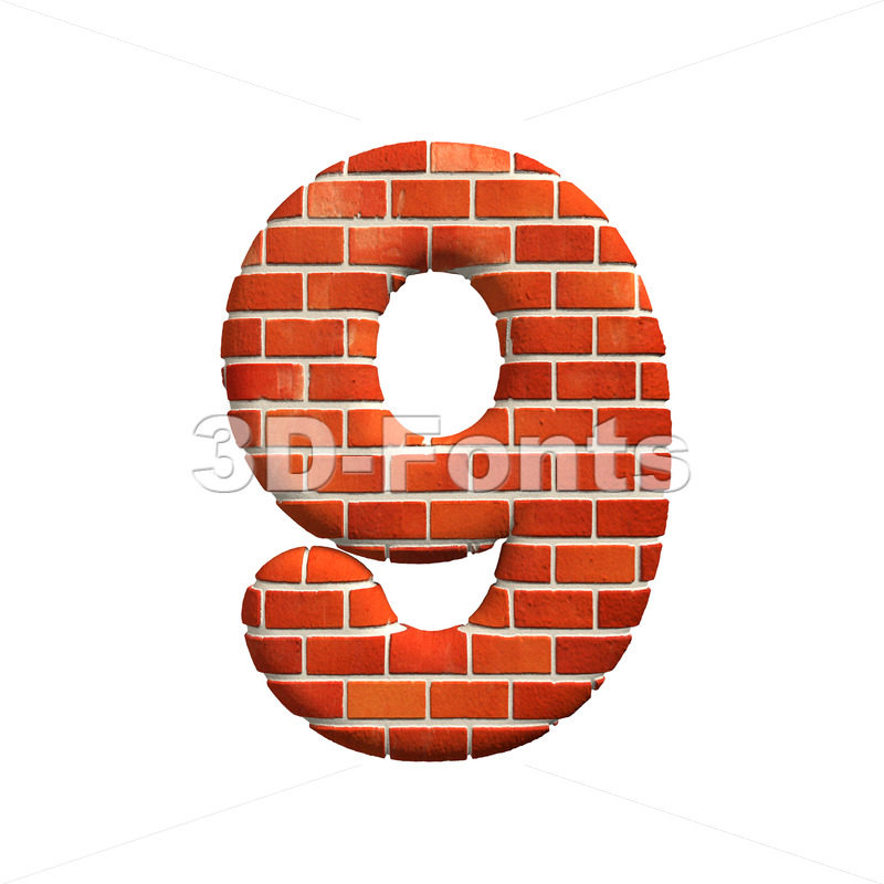 Brick number 9 – 3d digit