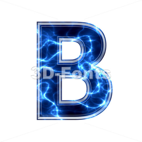 Capital Blue power letter B - Upper-case 3d font - 3d-fonts.com