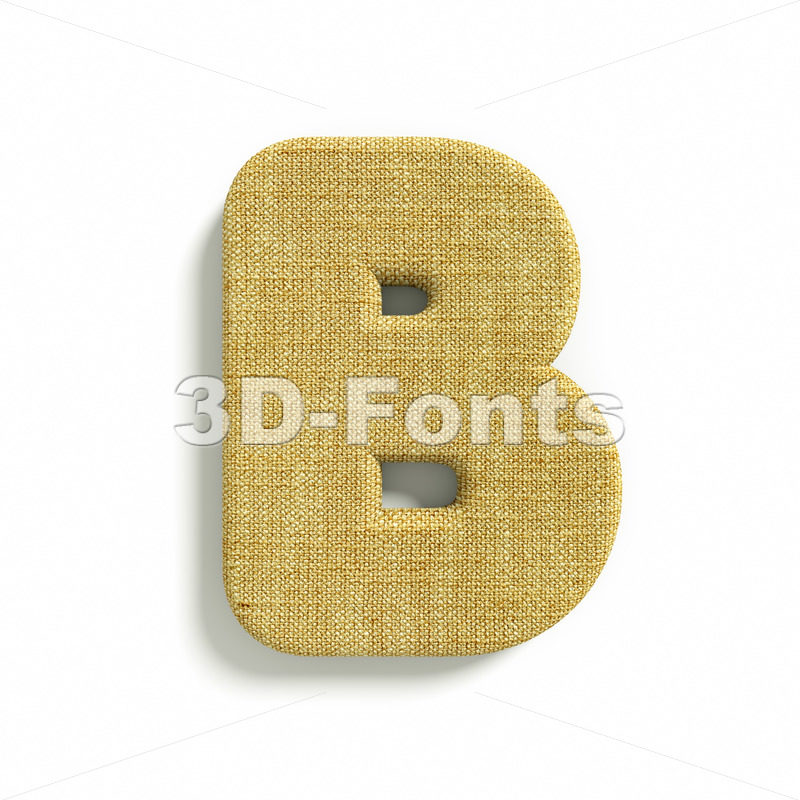 Capital burlap letter B – Upper-case 3d font