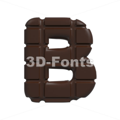 Capital chocolate tablet letter B – Upper-case 3d font