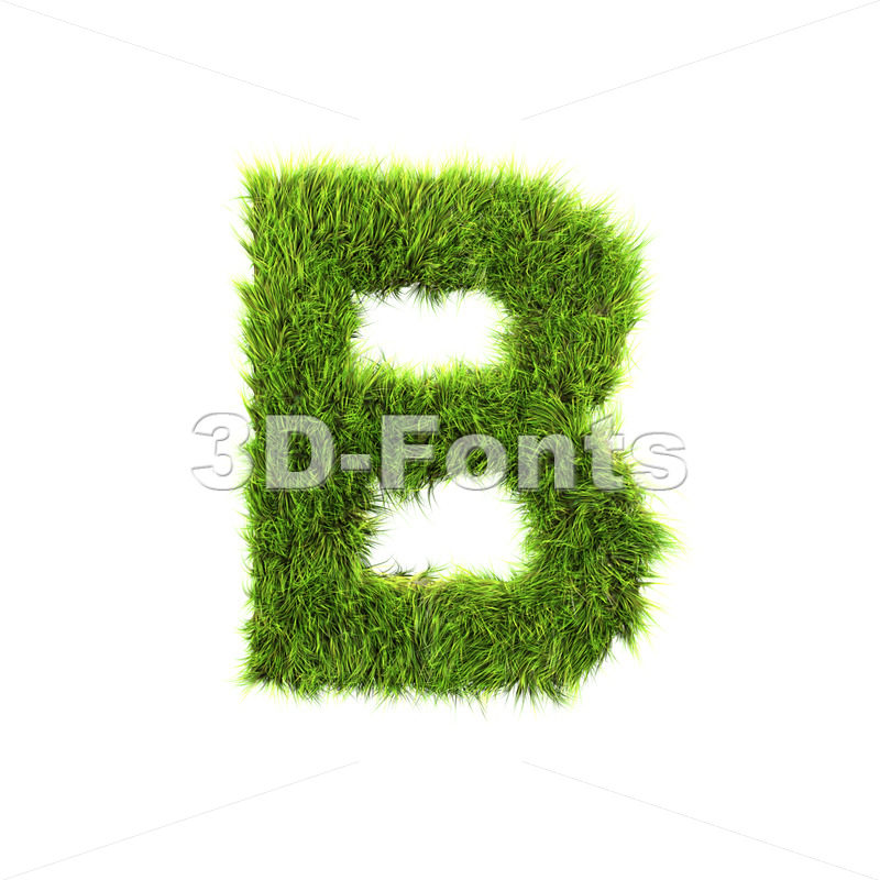 Capital herb letter B – Upper-case 3d font