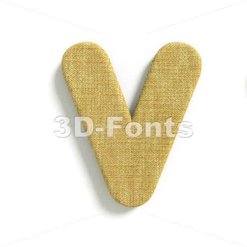 Capital jute letter V – Upper-case 3d character