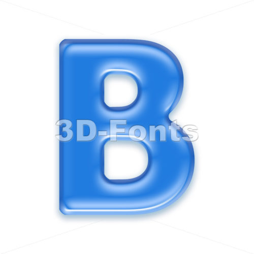 Capital transluscent letter B – Upper-case 3d font