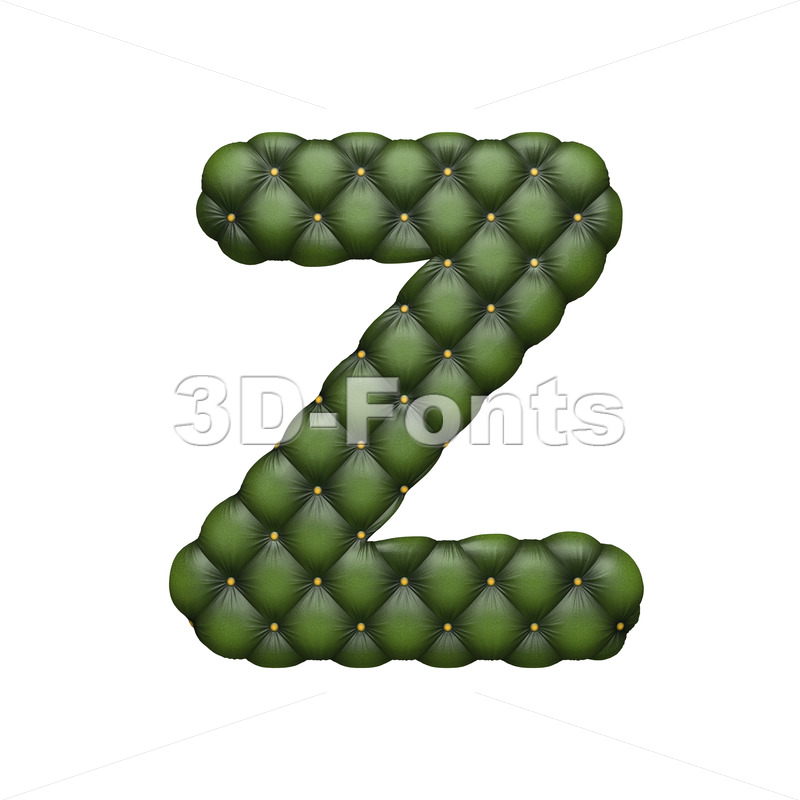 Chesterfield letter Z – Upper-case 3d font