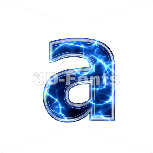 Electric font A - Lowercase 3d letter - 3d-fonts.com