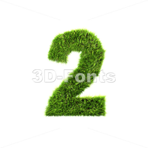 Grass digit 2 – 3d number