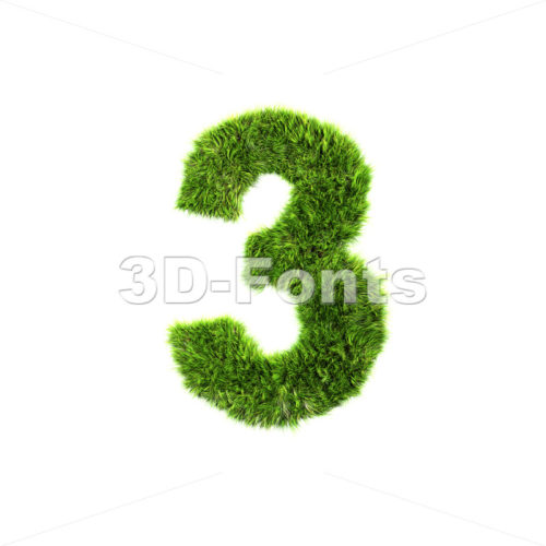 Grass number 3 – 3d digit