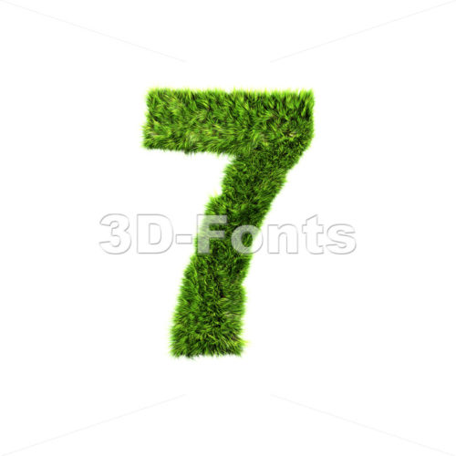 Grass number 7 – 3d digit