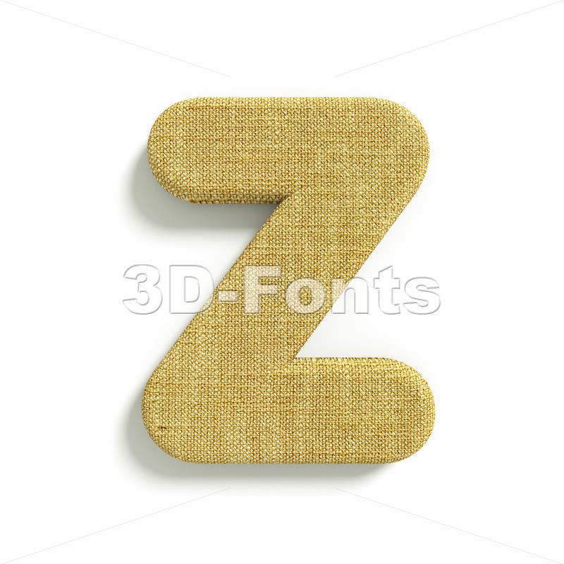 Hessian letter Z – Upper-case 3d font