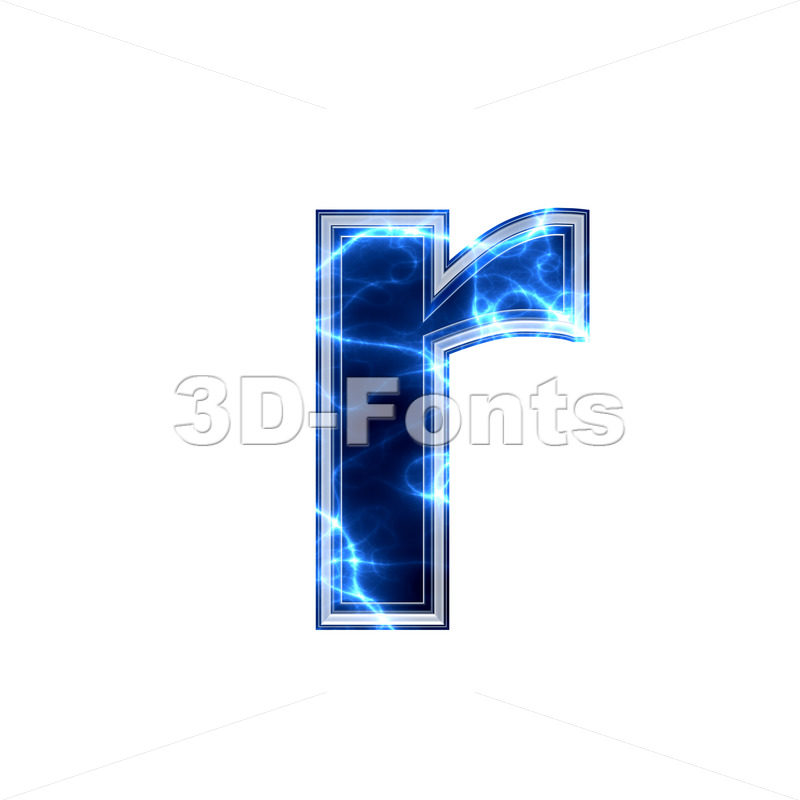 Small Electric character R – Lower-case 3d letter