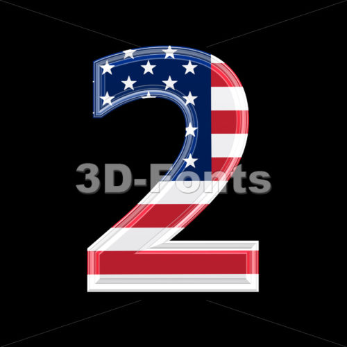 US digit 2 – 3d number