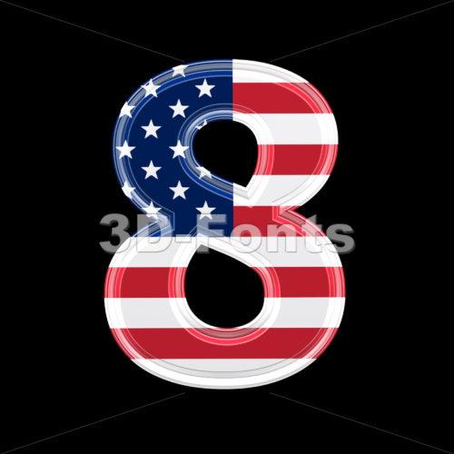 US digit 8 – 3d number
