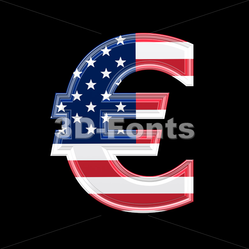 US euro currency sign – 3d business symbol