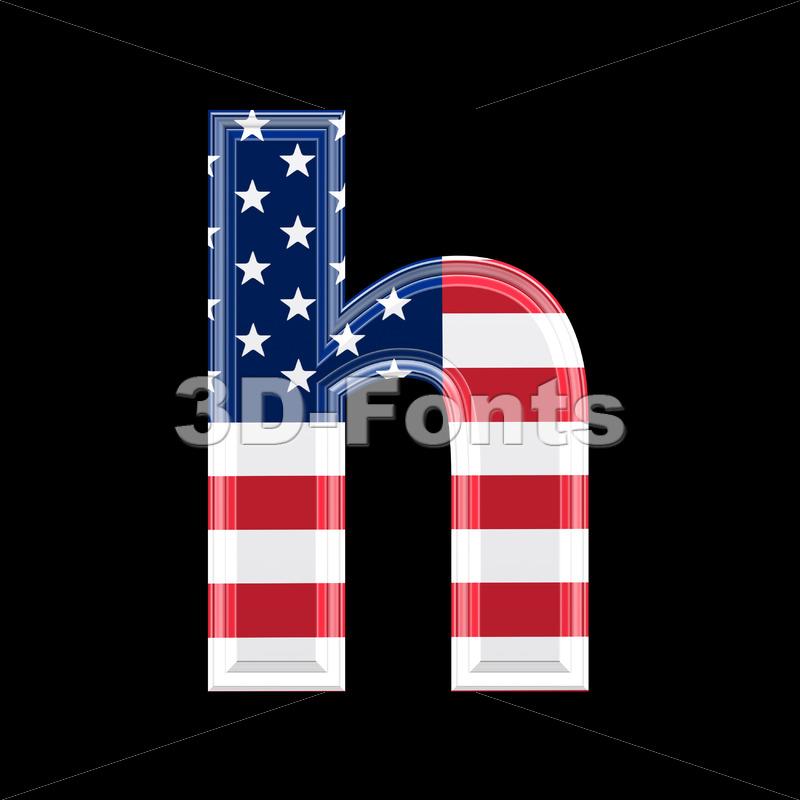 US font H – Lower-case 3d letter