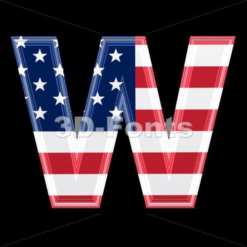 US font W – Capital 3d letter
