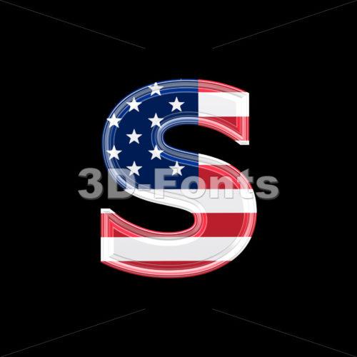US letter S – Lowercase 3d font