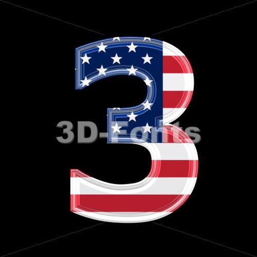US number 3 – 3d digit