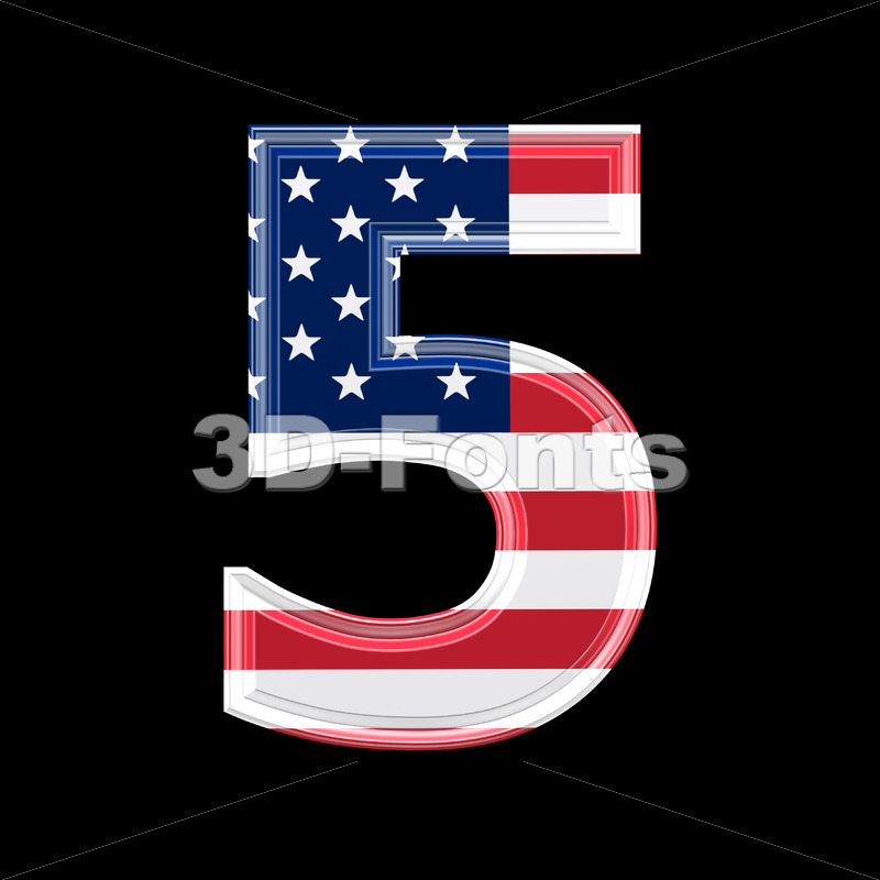 US number 5 – 3d digit