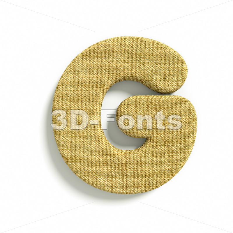 Upper-case Hessian character G – Capital 3d font