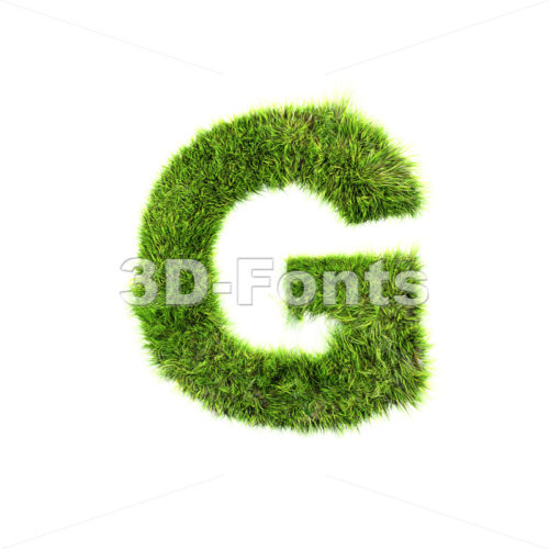 Upper-case green herb character G – Capital 3d font