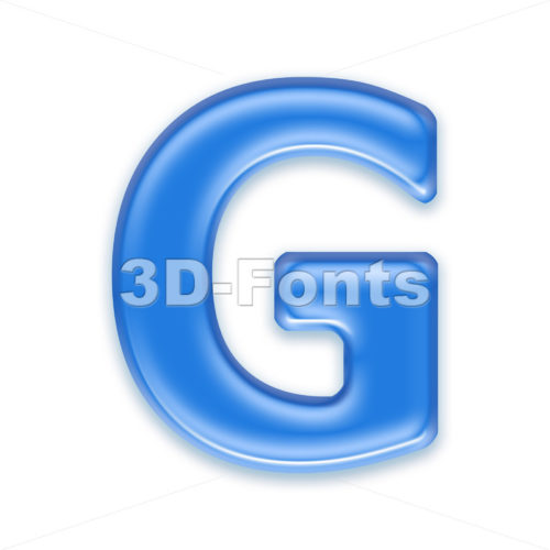 Upper-case jelly character G – Capital 3d font