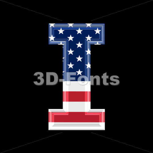 Uppercase American font I – Capital 3d letter