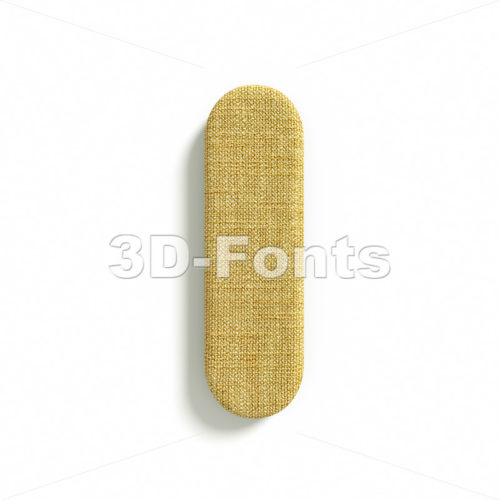 Uppercase Hessian font I – Capital 3d letter