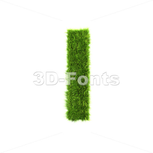 Uppercase green herb font I – Capital 3d letter