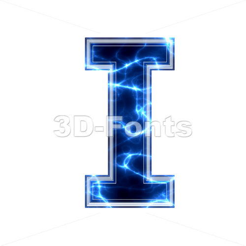 Uppercase lightning font I - Capital 3d letter - 3d-fonts.com