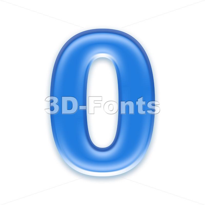 blue jelly number 0 – 3d digit