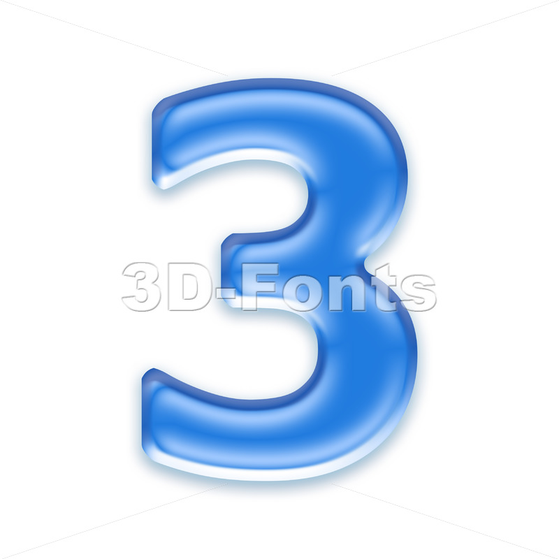 blue jelly number 3 – 3d digit