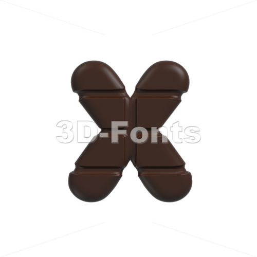 cacao 3d font X – Small 3d letter