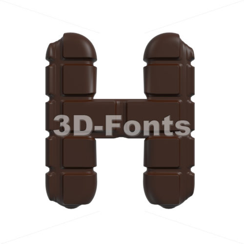 cacao 3d letter H – Upper-case 3d character