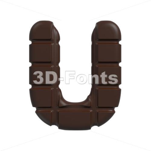 cacao 3d letter U – Capital 3d font