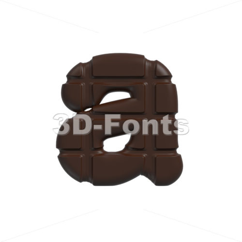 cacao font A – Lowercase 3d letter