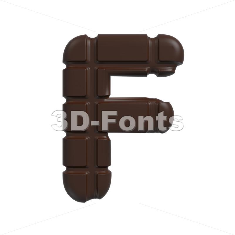 cacao letter F – Upper-case 3d font