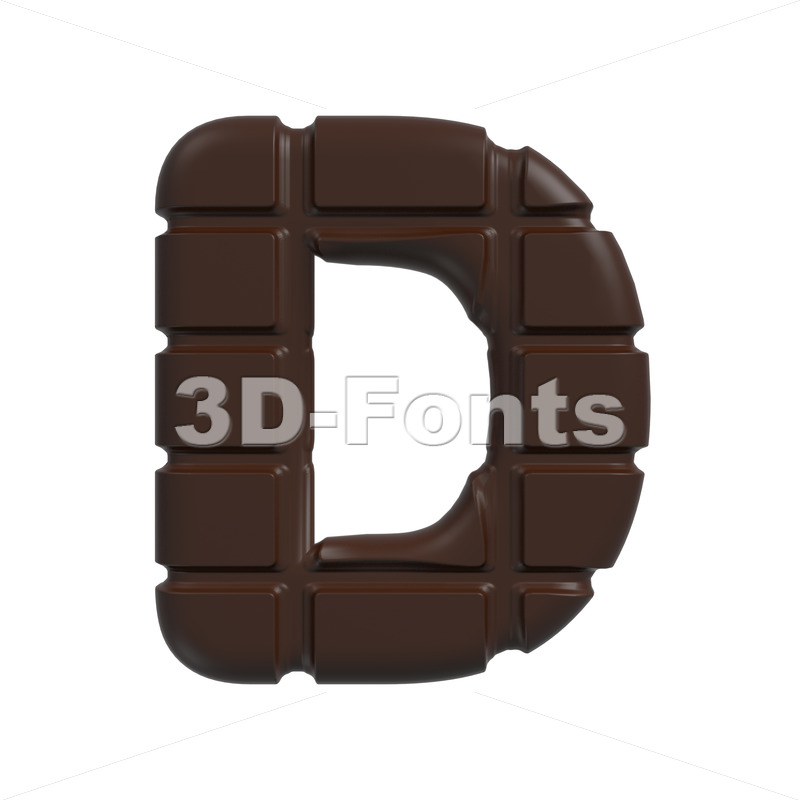 chocolate font D – Capital 3d character