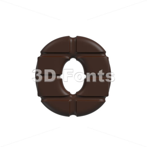 chocolate font O – Small 3d letter